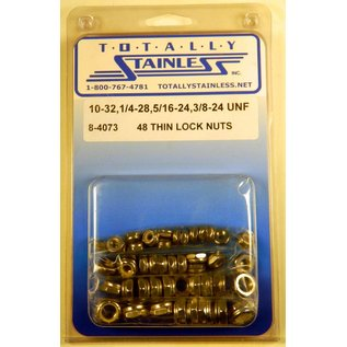 Totally Stainless #10, 1/4, 5/16, 3/8 Thin Lock Nuts - UNF - Panel 3 - #8-4073