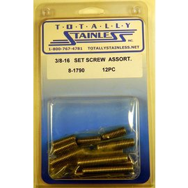 Totally Stainless 3/8-16 Set Screw Assortment - Panel 3 - #8-1790