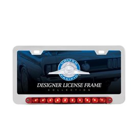 United Pacific Chrome LED License Frame - Red LED - Split Function Turn3rd Brake - #39397