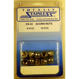 Totally Stainless 3/8-24 Stainless Acorn Nuts