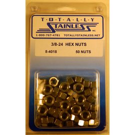 Totally Stainless 3/8-24 Stainless Hex Nuts