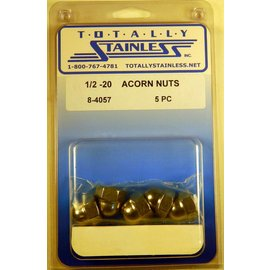 Totally Stainless 1/2-20 Acorn Nuts - Panel 4 - #8-4057