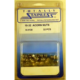 Totally Stainless 10-32 Acorn Nuts - Panel 4 - #8-4130
