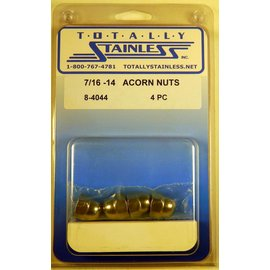 Totally Stainless 7/16-14 Stainless Acorn Nuts
