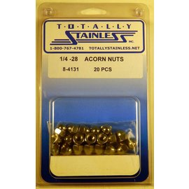 Totally Stainless 1/4-28 Acorn Nuts - Panel 4 - #8-4131
