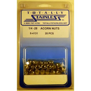 Totally Stainless 1/4-28 Stainless Acorn Nuts