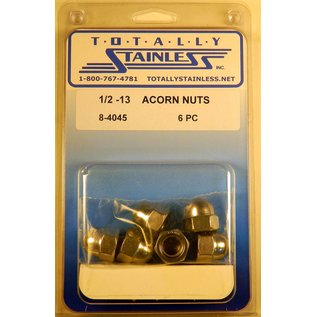 Totally Stainless 1/2-13 Stainless Acorn Nuts