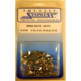 Totally Stainless 6-32, 8-32, 10-24 & 10-32 Stainless Wing Nuts