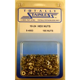 Totally Stainless 10-24 Stainless Hex Nuts