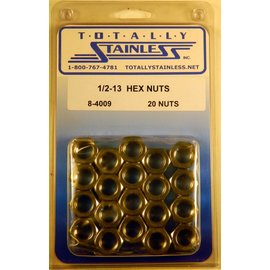 Totally Stainless 1/2-13 Stainless Hex Nuts