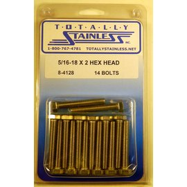 Totally Stainless 5/16-18 x 2 Stainless Hex Head Bolts