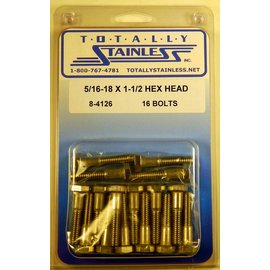Totally Stainless 5/16-18 x 1 1/2 Hex Head Bolts - Panel 5 - #8-4126