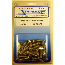 Totally Stainless 5/16-18 x 1 Stainless Hex Head Bolts