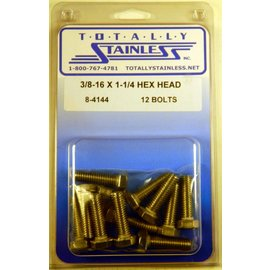 Totally Stainless 3/8-16 x 1 1/4 Stainless Hex Head Bolts