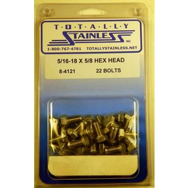 Totally Stainless 5/16-18 x 5/8 Stainless Hex Head Bolts