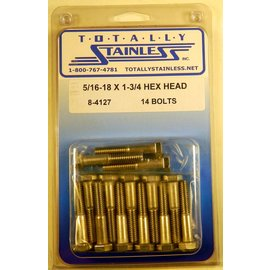 Totally Stainless 5/16-18 x 1 3/4 Stainless Hex Head Bolts