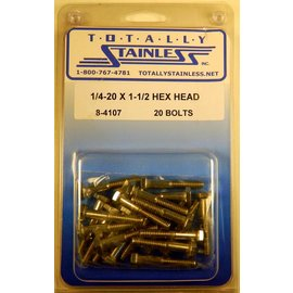 Totally Stainless 1/4-20 x 1 1/2 Hex Head Bolts - Panel 5 - #8-4107