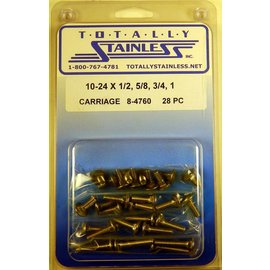 Totally Stainless 10-24 Assorted Carriage Head Bolts - Panel 5 - #8-4760
