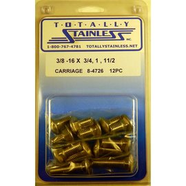 Totally Stainless 3/8-16 Stainless Assorted Carriage Head Bolts