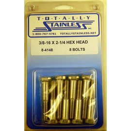 Totally Stainless 3/8-16 x 2 1/4 Hex Head Bolts - Panel 6 - #8-4148