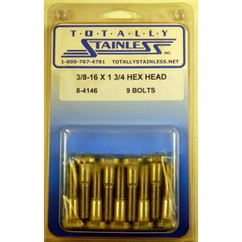 Totally Stainless 3/8-16 x 1 3/4 Hex Head Bolts - Panel 6 - #8-4146