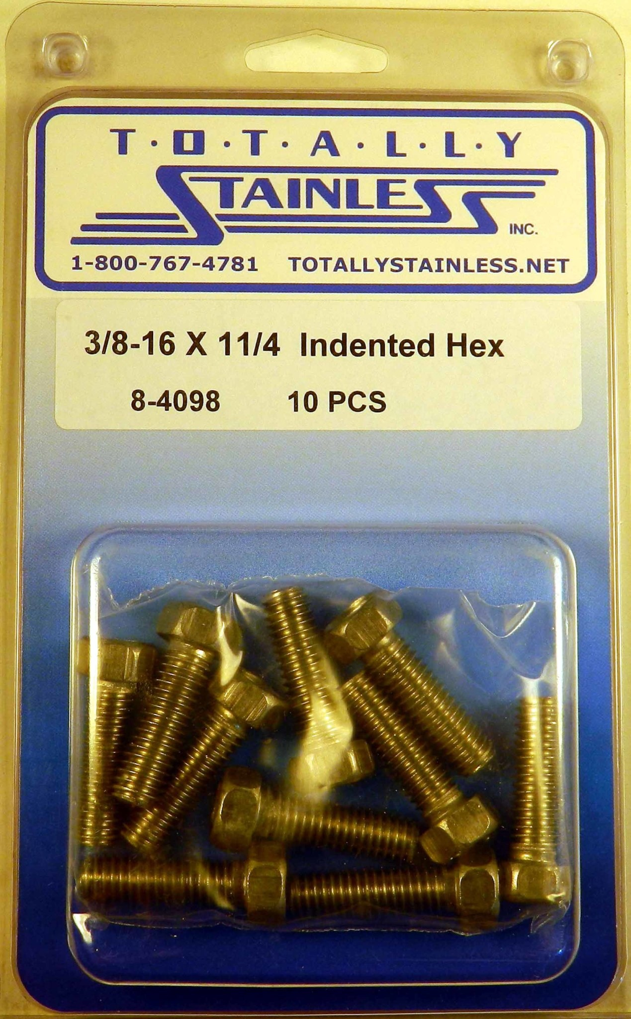 3/8-16 x 1 1/4 Indented Head Hex Bolts - Panel 6 - #8-4098