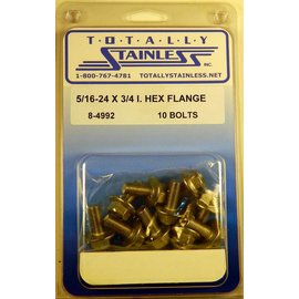Totally Stainless 5/16-24 x 3/4 Stainless Indented Hex Washer Head Bolts