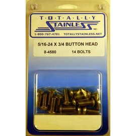 Totally Stainless 5/18-24 x 3/4 Button Head Bolts - Panel 7 - #8-4580