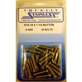 "Totally Stainless 5/16-18 x 1-1/4"" Stainless Button Head Bolts"