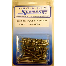Totally Stainless 10-32 Stainless Assorted Button Head Machine Screws