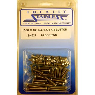 Totally Stainless 10-32 Assorted Button Head Machine Screws  - Panel 7 - #8-4527