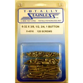 Totally Stainless 6-32 Assorted Button Head Machine Screws - Panel 7 - #8-4516