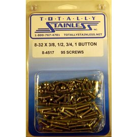 Totally Stainless 8-32 Stainless Assorted Button Head Machine Screws