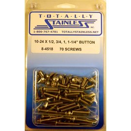 Totally Stainless 10-24 Assorted Button Head Machine Screws - Panel 7 - #8-4518