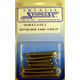 Totally Stainless 1/4-20 x 2, 2-1/2, 3 Button Head Bolts - Panel 7 - #8-4544