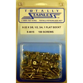 Totally Stainless 8-32 Assorted Flat Socket Head Machine Screws - Panel 7 - #8-4615