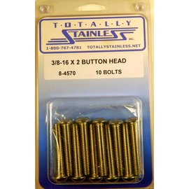 Totally Stainless 3/8-16 x 2 Button Head Bolts- Panel 7 - #8-4570