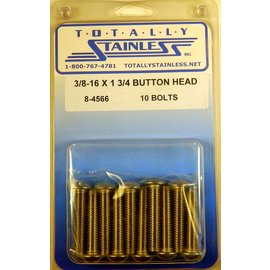 "Totally Stainless 3/8-16 x 1 3/4"" Stainless Button Head Bolts"