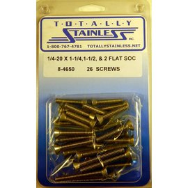Totally Stainless 1/4-20 Stainless Assorted Flat Socket Head Bolts
