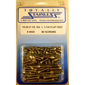 Totally Stainless 10-24 Assorted Flat Socket Head Machine Screws - Panel 7 - #8-4620