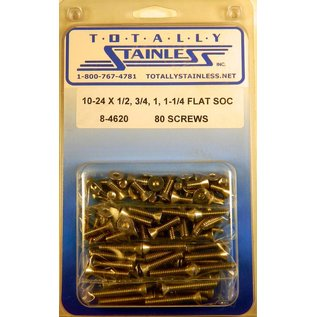 Totally Stainless 10-24 Stainless Assorted Flat Socket Head Machine Screws