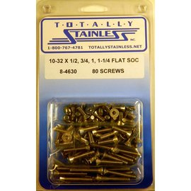 Totally Stainless 10-32 Stainless Assorted Flat Socket Head Machine Screws