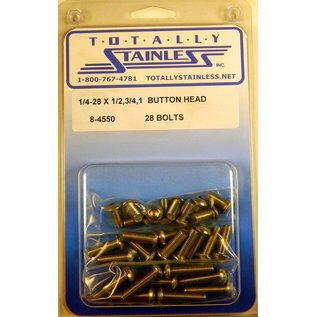 Totally Stainless 1/4-28 Stainless Assorted Button Head Bolts
