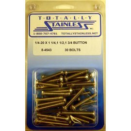 """Totally Stainless 1/4-20 x 1-1/4, 1-1/2 & 1-3/4"""" Stainless Button Head Bolts"""