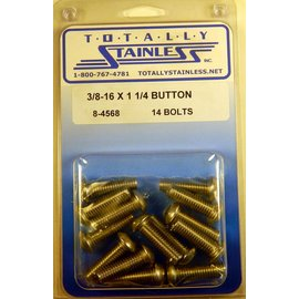 Totally Stainless 3/8-16 x 1 1/4 Button Head Bolts - Panel 7 - #8-4568