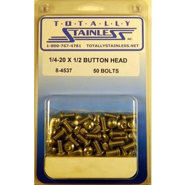 Totally Stainless 1/4-20 x 1/2 Button Head Bolts- Panel 7 - #8-4537