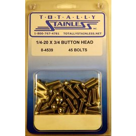 Totally Stainless 1/4-20 x 3/4 Button Head Bolts- Panel 7 - #8-4539