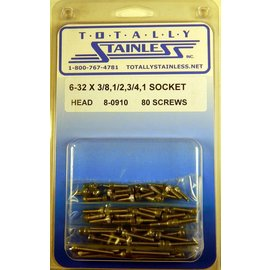 Totally Stainless 6-32 Assorted Socket Head Machine Screws - Panel 8 - #8-0910