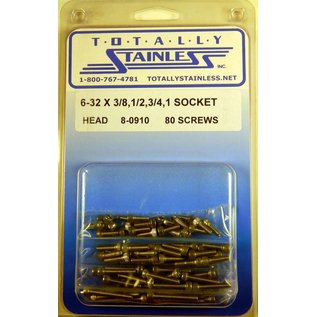 Totally Stainless 6-32 Stainless Assorted Socket Head Machine Screws