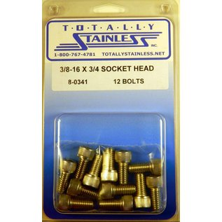 """Totally Stainless 3/8-16 x 3/4"""" Stainless Socket Head Bolts"""